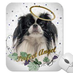 Pekingese Perfect Angel Mouse Pad by friskybiz