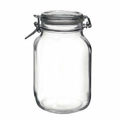 Bormioli Rocco Fido Round Clear Jar, 67-3/4-Ounce by Bormioli Rocco Glass Co., Inc.. $12.99. The absence of lead guarantees 100-percent recyclable products. Dishwasher safe and shock resistant. Superior resistant to use and dishwashing guarantees long lasting product. Bpa free, made in italy. Capacity 67-3/4-ounce. The fine tradition of the Bormioli Rocco Group coincides with the very history of glass: the first glassworks was established in Parma in 1825. The company has al...