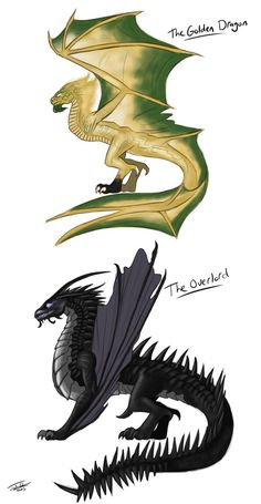 I was going to do the Golden Dragon and Ultra Dragon together, but decided that the Overlord and Golden Dragon would make a better pairing drawing wise,. The Golden Dragon and the Overlord Ninjago Dragon, Ninjago Kai, Ninjago Memes, Lego Ninjago, Lego Lego, Lego Batman, Legos, Magical Creatures, Fantasy Creatures