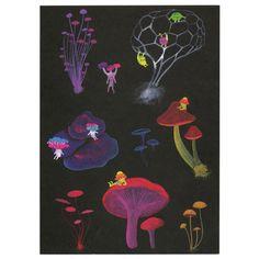Mushroom Folk Card by APAK (Little Otsu)