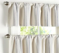 These are on pottery barn. Could I make valences out of tea towels?