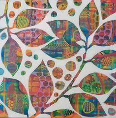 Sunlit Orange Tree by West Australian Artist Sarah Robey Space Painting, Stencil Painting, Artist Painting, Artist Art, Kunstjournal Inspiration, Art Journal Inspiration, Art And Illustration, Australian Artists, Art Techniques