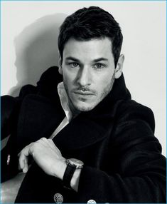 Gaspard Ulliel captured in a black & white image for Madame Figaro China.