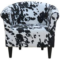 Denmark Cowhide Barrel Chair & Reviews | Joss & Main