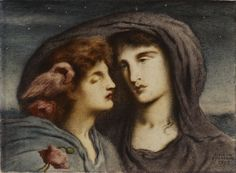 Simeon Solomon Research Archive  Night Looking Upon Sleep, Her Beloved Child