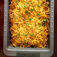 Sloppy Joe Spaghetti Bake ….  Mmmm!  A little garlic bread and salad to go along with this would be awesome!