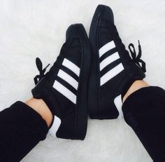 Image de adidas, black, and shoes