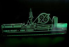 Wandtattoo  Hansa Rostock Skyline mit Logo Fussball Sport Verein Fan Wandsricker
