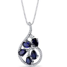 Peora.com - Created Blue Sapphire Dewdrop Pendant Necklace Sterling Silver 2.5 Carats SP11250, $49.99 (http://www.peora.com/created-blue-sapphire-dewdrop-pendant-necklace-sterling-silver-2-5-carats-sp11250-2)