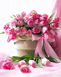 Another Day, Another Time Beautiful Rose Flowers, Beautiful Flower Arrangements, Floral Arrangements, Beautiful Flowers, Pink Tulips, Pink Roses, Pink Flowers, Birthday Wishes Flowers, Happy Birthday Flower