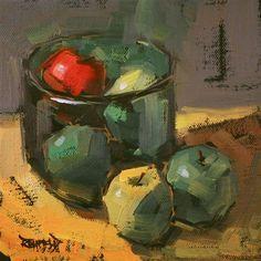 """One Red Apple"" - Original Fine Art for Sale - © Cathleen Rehfeld"