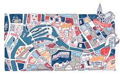 Brussels Airlines maps - Antoine Corbineau • Illustration & Design