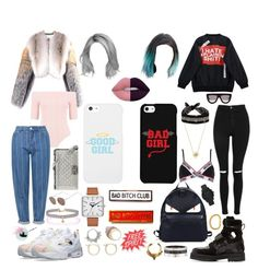 """""""Bff goals"""" by laura-prevenier ❤ liked on Polyvore featuring Givenchy, LG, Boohoo, Chicnova Fashion, Topshop, Lime Crime, Moschino, Hood by Air, Fendi and Paul Smith"""