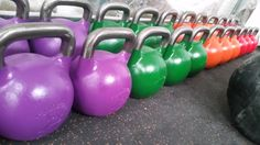 It's a kettlebell complex kinda day... but which pretty colour to choose?