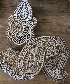 Indian Block Print Blocks Indian Block Print, Indian Prints, Indian Textiles, Indian Art, Textile Prints, Textile Design, Shibori, Motif Oriental, Indian Patterns