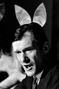 Somebody got a great shot haha. Hugh as a playboy bunny :P