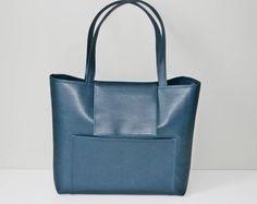 Womens totes, Tote bag, shoulder blue bag, bag for women, blue tote bag, shopper bag, Diaper Bag, modern blue bag