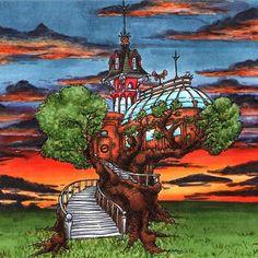 Big Steampunk Treehouse Digi Stamp in Digital images