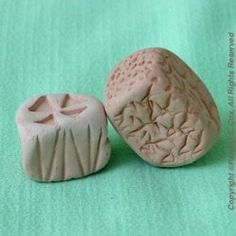 Making Clay Stamps signature stamps rolling stamps Ceramic Texture, Clay Texture, Polymer Clay Tools, Sculpey Clay, Diy Jewellery Designs, Signature Stamp, Clay Stamps, Pottery Videos, Handmade Stamps