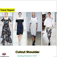 Cutout Shoulder Style Trend for Spring Summer 2015.Michael van der Ham,Holly Fulton, ADEAM, and Issa #Spring2015 #SS15 #Fashion
