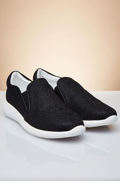 STYLE # 183498 Web Exclusive GLOW ME UP GLITTER SLIP-ON SNEAKERS $17.99 Athleisure Trend, Athleisure Fashion, Slip On Sneakers, Fashion Accessories, Glow, Glitter, Stylish, Shoes, Zapatos