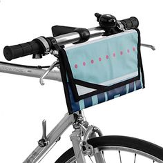 Made from upcycled billboards, bicycle inner tubes, and nylon, each bright design boasts a different color or pattern, making your travel tote a one-of-a-kind look Bike Bag, Sailing Outfit, Bike Handlebars, Cute Handbags, Vinyl Banners, Unique Bags, Gadget Gifts, Travel Tote, Bike Accessories