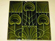 Gotta LOVE the Art Nouveau! Art Nouveau Tiles, Art Nouveau Design, Tile Art, Mosaic Tiles, Mosaics, Azulejos Art Nouveau, Cloud Tattoo, Art Nouveau Furniture, Peacock Decor