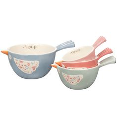 Buy John Lewis Polly's Pantry Measuring Cups, Multi Online at johnlewis.com