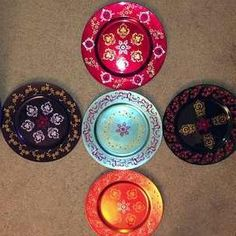 Craft on Charger plates from Michaels