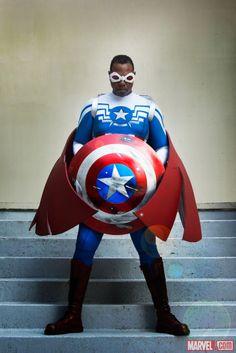 Sam Wilson: Captain America Cosplay by Eddie Newsome