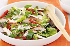 Chicken and herb salad with creamy lime dressing