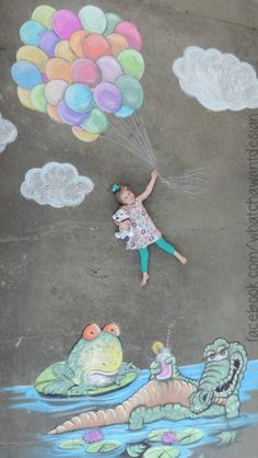 Sidewalk chalk + fun photo shoot with my girls = the perfect Father's Day gift! I'll definitely be planning some more sidewalk chalk photo shoots in the near future! Chalk It Up, Chalk Art, Diy Craft Projects, Projects For Kids, Crafts, Chalk Photography, Chalk Photos, Photos Originales, Chalk Drawings