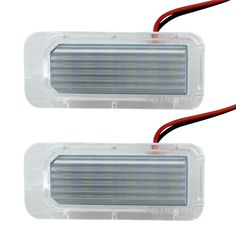 2 Pieces LED Number License Plate Light Bulbs For Ford Fiesta Focus Kuga C-MAX Mondeo