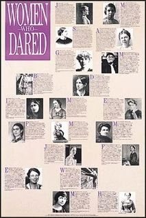 Twenty photographs and brief biographies of the following daring women: Bessie Coleman, Susan B. Anthony, Maria Montessori, Eleanor Roosevelt, Frida Kahlo, Julia Morgan, Maria Mitchell, Florence Nightingale, Margaret Sanger, Harriet Tubman, Mary McLeod Bethune, Margaret Fuller, Emma Goldman, Jane Addams, Marian Anderson, Amy Marcy, Cheney Beach, Gertrude Bell, Dorothea Dix and Isadora Duncan. Love Your Life, Change The World, Margaret Fuller, Gertrude Bell, Jane Addams, Mary Mcleod Bethune, Bessie Coleman, My English Teacher, Eudora Welty