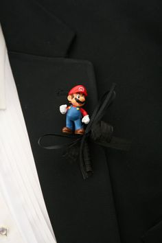 Mario boutonniere - DIY    I made this for one of my groomsmen for my wedding.