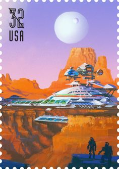 This is one of five Space Discovery stamps issued in 1998. Do you think space exploration will look like this one day?
