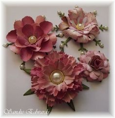Cheery Lynn Designs Blog: Four Different Flowers - Tutorial