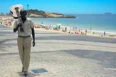 Tom Jobim statue is inaugurated in Ipanema, Rio de Janeiro, Brazil, to mark the 20th anniversary of the artist's death in December 8th, 1994, New York, NY, USA...