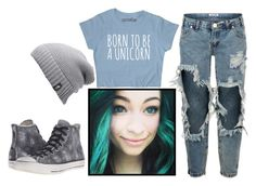 """Untitled #49"" by shadow-lullaby on Polyvore featuring OneTeaspoon, The North Face and Converse"