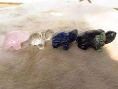 4 NATURAL color QUARTZ CRYSTAL turtle healing 270g