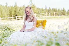 Gorgeous bride in a gorgeous field of wildflowers ~ 2ee's Photography