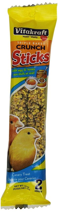 Vitakraft Canary Egg Sticks and 1.4-Ounce Bag >>> To view further for this item, visit the image link.