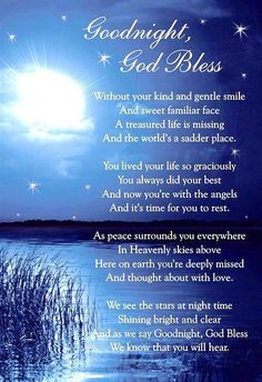 Details about Graveside Bereavement Memorial Cards (b) VARIETY You Choose - All For Health Good Night Quotes, Good Night Prayer, Good Night Blessings, Night Qoutes, Evening Quotes, Miss Mom, Miss You Dad, Memorial Cards, Memorial Poems