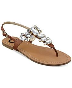 G by GUESS Women's Kyli T-Strap Flat Thong Sandals