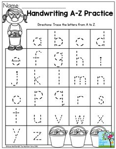 Handwriting Practice- Perfect for beginning writers! Summer Review NO PREP Packets!