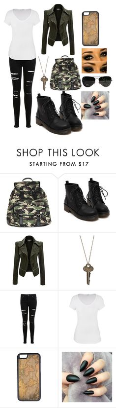 """Army Outfit"" by jacklyneprater on Polyvore featuring Wet Seal, The Giving Keys, Miss Selfridge, maurices, CellPowerCases and Ray-Ban"