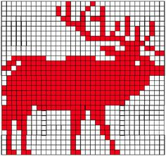 elk knitting graph by Sandra Eterovic Knitting Charts, Knitting Stitches, Knitting Designs, Knitting Patterns Free, Knitting Yarn, Crochet Patterns, Easy Knitting, Knitting Ideas, Cross Stitch Embroidery