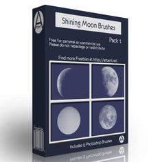 Arbenting5 Shining Moon Photoshop Brushes - Arbenting