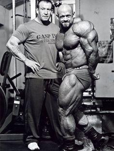 Dorian Yates with Branch Warren