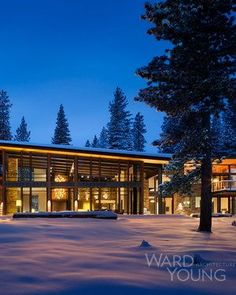 Martis Modern Mountain By Ward Young #Architect #MartisCamp #LakeTahoe #California #Cabin #lodge #Truckee #LakeTahoe #California